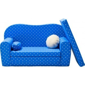 Gepetto Maxi Sofa / Children's Sleeping Couch Blue and White 05.07.11.03