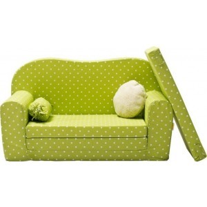 Gepetto Maxi Sofa / Children's Sleeping Couch Green and White 05.07.11.02
