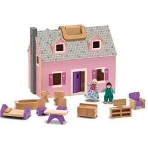 Portable Wooden Dollhouse Melissa & Doug 13701
