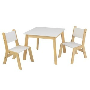 Modern Table & 2 Chair Set (white) - Kidkraft (27025)