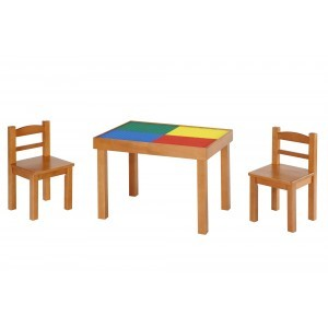 Multipurpose (Whiteboard-blackboard-lego Top) Wooden Table & Chairs Set - Liberty House Toys (MT420)
