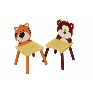 Jungle Wooden Chair Set – 2 (Bear & Tiger) - Liberty House Toys (MZ3867B+D)