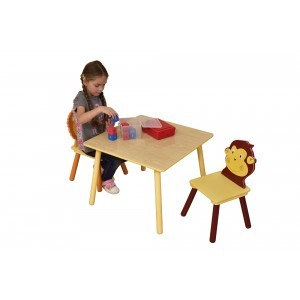 Jungle Square Table & 2 Chairs Set - Liberty House Toys (MZ3868-N)