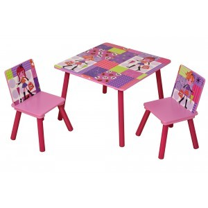 Fashion Girl Square Table & 2 Chairs Set - Liberty House Toys (MZ4601)
