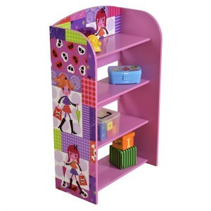 Fashion Girl 4 Tier Bookshelf - Liberty House Toys (MZ4615)