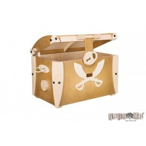 Large Wooden Toy Box (White) - Gepetto (NSKGP)