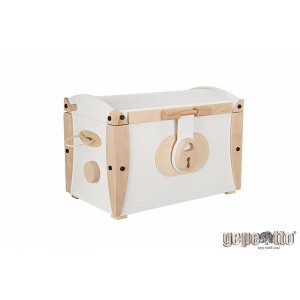 Gepetto Large Wooden Toy Box / WHITE / GP NSKGW