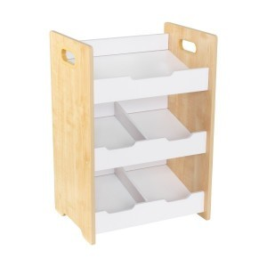 Angled Bin Unit with slanted white shelves (natural) - KidKraft (15766)