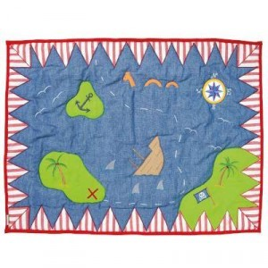 The pirate play tent Floor Quilt (Win Green - large)