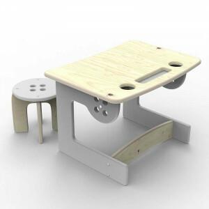 Desk & Table Grey Button