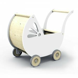 Dollhouse Baby Carriage Lila White
