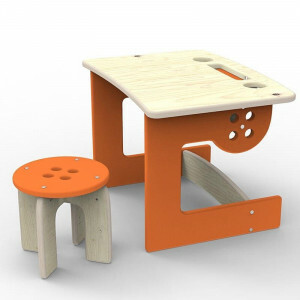 Kinder desk Orange colour Button