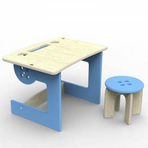 Kinder desk Blue Button