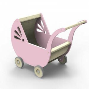 Lila Dolls' Pram Pink
