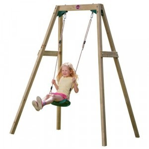 Wooden Single Swing - Plum