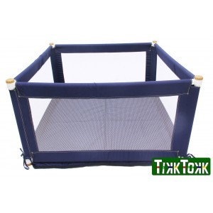 Tikk Tokk Pokano Fabric Playpen - Square - Blue - Liberty House Toys (POK01B)