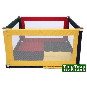 Tikk Tokk Pokano Fabric Playpen - Square - Colourful - Liberty House Toys (POK01C)