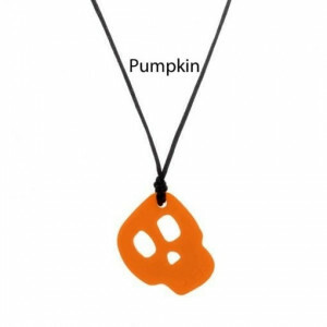 Sensory Tactile Chewing Toy Pumpkin Skull Chewigem Pendant