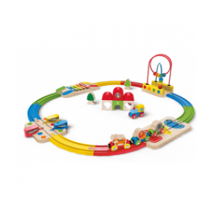 Rainbow Railway & Station Set - Hape (E3816)