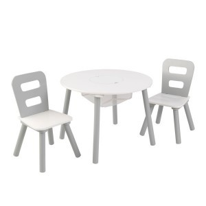 Children's furniture set with Table & 2 Chairs (gray/white) - KidKraft (26166)