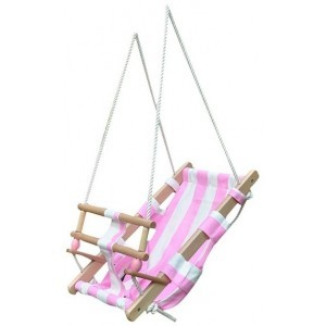 Baby Swing (Pink / White Striped) - New Classic Toys (1500P)