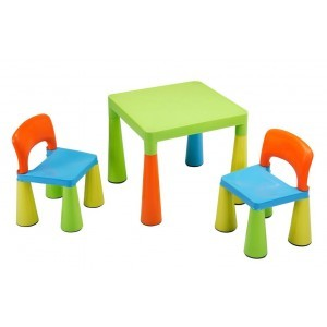 Children's Multi-coloured Table & Chairs Set - Liberty House Toys (SM004UN)