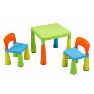Children's Multi-coloured Table & Chairs Set - Liberty House Toys (SM004UN)
