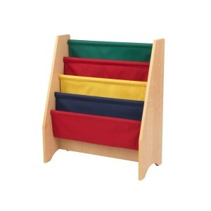 Sling bookshelf (primary and naturel colors) - Kidkraft (14226)