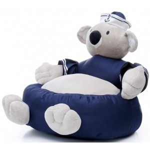 Kids armchair - Plush armchair Koala 209 White / Blue - Kayoom (kayoom-2)