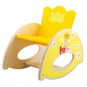 Princely Wooden Rocking Chair - Sevi (82655)