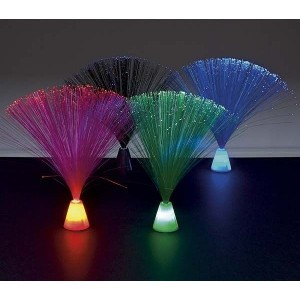 Pack of 4 Mini Fibre Optic Lamps