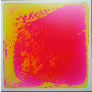 Liquid Floor Tile Pink / Yellow