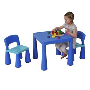 Children's Blue Table & Chair Set - Liberty House Toys (SM004B)
