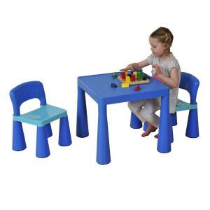 Children's Blue Table & Chair Set - Liberty House Toys (SM004B)