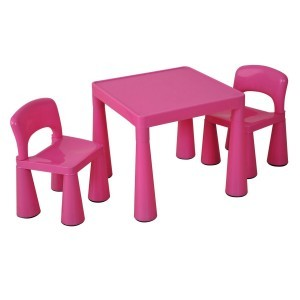 Children's Pink Table & Chairs Set - Liberty House Toys (SM004P)