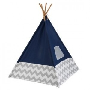Play Teepee (Navy) with Gray/White Chevron - Kidkraft (00228)