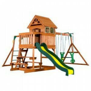 Backyard Discovery Springboro All Cedar Wood Playset Swing Set