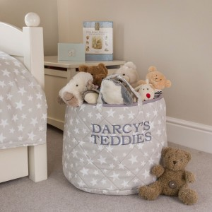 Star Toy Basket (Grey) - Kiddiewinkles (GREYSTB)