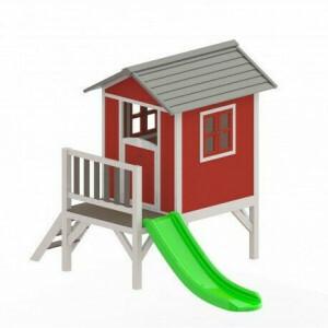 Sunny Lodge XL playhouse red / white 190 x 260 x 167 cm