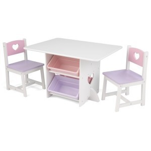Table and 2 chairs with hearts - Kidkraft (26913)