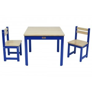 Tikk Tokk Boss Envy Table & Chairs Set – Blue - Liberty House Toys (TBS03B)