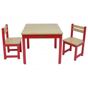 Tikk Tokk Boss Envy Table & Chairs Set – Red - Liberty House Toys (TBS03R)