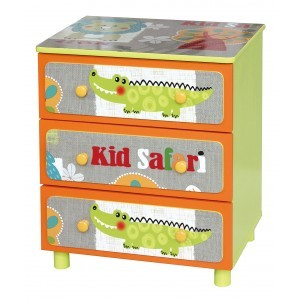Kid Safari 3 Drawer Cabinet - Liberty House Toys (TF4801)