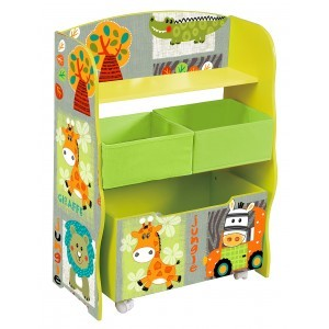 Kid Safari Storage Box & Storage Fabric Bins - Liberty House Toys (TF4821)