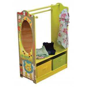Kid Safari Wooden Dress Up with Storage Bins - Liberty House Toys (TF4840)