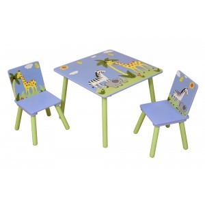 Safari Square Table & 2 Chairs Set - Liberty House Toys (TF5001)