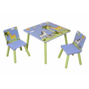 Safari Square Table & 2 Chairs Set - Liberty House Toys (TF5001)