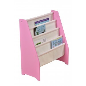 Pink Wooden Book Display with Canvas Pockets - Liberty House Toys (TF5184)