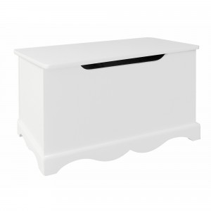 White Wooden Toy Box - Liberty House Toys (TF5302)