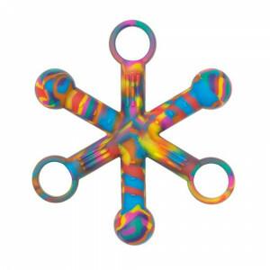 Sensory Chewigem Tie Dye Hexichew Tactile Chewing Fidget Toy
